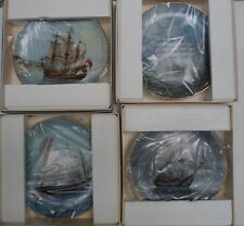 Lot of 4 Legendary Ships of the Sea Collectible Plates w/ Box Papers Estrehan