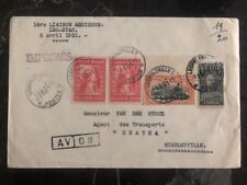 1931 Leopoldville Belgian Congo First Flight Airmail Cover FFC to Stanleyville