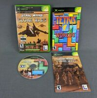 Star Wars The Clone Wars & Tetris Worlds Combo XBOX Complete With Both Manuals