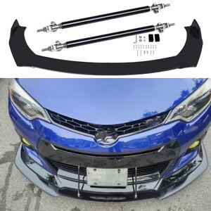 For Toyota Corolla 2009-2021 Front Bumper Lip Splitter Spoiler + Strut Rods Bar