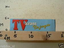 STICKER,DECAL TV KRANT DE JONGSTE