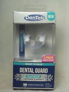DenTek DENTAL GUARD PLATINUM Ultimate Comfort 2 Guards Case nip