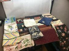 HUGE LOT Crafter's Dream! UNFINISHED Pillow Covers SCRAP FABRIC 236 Pieces!!