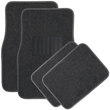 4pc Charcoal Deluxe Carpet Floor Mats Front & Rear Universal New Free Shipping
