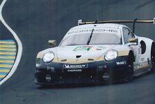 Laurens Vanthoor Hand Signed 12x8 Photo - Le Mans Autograph Porsche.