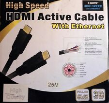 75 ft. HDMI Active Cable w/ Ethernet -GOLD Connectors-High Quality/High Speed