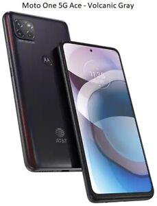 Motorola Moto One 5G / 5G Ace | 64/128GB AT&T Verizon OR GSM Unlocked Smartphone