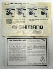 VINTAGE SHIMANO SPINNING REELS FX SERIES REEL INSTRUCTIONS MANUAL