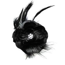 Accesorios pasadores de color principal negro plumas para cabello de mujer