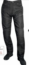 """Roleff  Armoured with kevlar Motorcycle  Jeans, washed Black , 32"""" waist"""