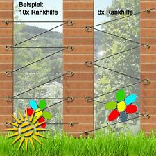 8x Rankhilfe Schrauben f Edelstahlseil für Rosen und Kletterpflanzen, Rank Hilfe