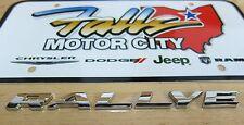 2012-2016 Dodge Dart Chrome RALLYE Trunk Deck Lid Emblem Namplate Mopar OEM