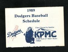 Los Angeles Dodgers--1989 Pocket Schedule--KPMC/Martin's Stockdale Pharmacy