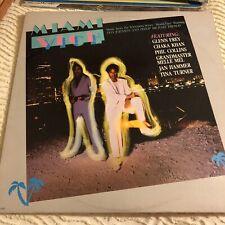VintageMIAMI VICE LP - TV Soundtrack (1985) Chaka Khan Phil Collins Tina Turner