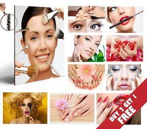 BEAUTY SALON MAKE UP MANICURE PEDICURE Poster A4 Photo Print Art Spa Shop Decor