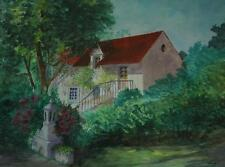 Beautiful Watercolor of a Country Estate by Florida Artist Colette Rivolta
