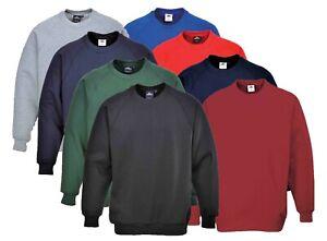 PORTWEST Roma Sweatshirt Jumper Casual Work Leisure Uniform Polycotton B300