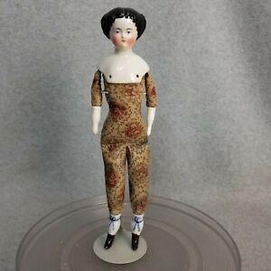 """12"""" antique German Kestner China Shoulder Head Doll w unique Flower Print Body"""