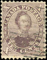 1859 Used Canada 10c F+ Scott #17 HRH Prince Albert First Cents Issue Stamp