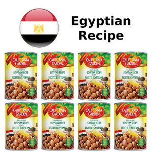 8 Cans California Garden Fava Beans Egyptian Recipe 16oz/450g - Vegetarian