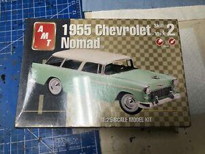 VINTAGE AMT 1/25 SCALE 1955 CHEVROLET NOMAD PLASTIC MODEL KIT FACTORY SEALED