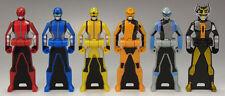 JAPAN Rare!! Ranger Key Power Rangers Gobusters Gashapon 6 kinds of ranger key