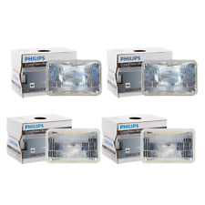 4 PCS Philips Headlight Bulb For 1981-1983 Audi Coupe High Beam + Low Beam