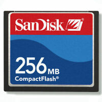 SanDisk 256MB CompactFlash CF Memory Card SDCFB-256/SDCFJ-256 Genuine w/case new
