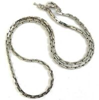 VINTAGE NECKLACE CHAIN SILVER TONE METAL DESIGNER TRIFARI GOOD FOR LAYERS