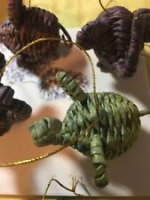 hand-crafted Christmas Ornament ELEPHANT; Fair Trade from rolled dyed paper