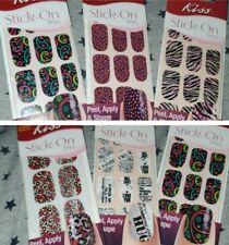 Lot Of 6 Kiss Stick-On Strips Limited Edition Nails lasts up to 10 days! 6 pk