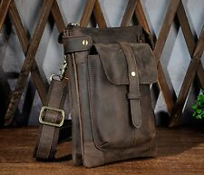 Real Leather Shoulder Messenger Men Bag Case Pouch Phone Tablet Crossbody belt