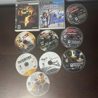 Lot of 10 PlayStation 3 PS3 Games — GTA 4, Resident Evil 5, Dead Island, WWE 12