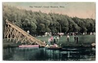 1908 The Shoots Waterslide, Grand Meadows, MN Hand-Colored Postcard