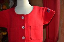 veste tartine et chocolat 6 ans sport superbe rouge le drapeaux