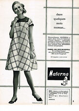 PUBLICITE  1968  MATERNA   pret à porter maternité future maman