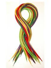 Rainbow dreadlocks - 24 Handmade felted merino wool dreads - Mix No 2