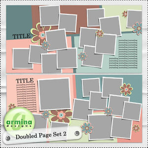 Armina Designs - Doubled Page Template Set 2