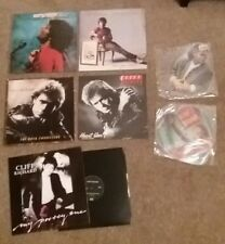 "Cliff Richard vinyl 12"" record lot x7 Wired Sound shaped picture discs poster.."