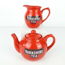 More details for taylors of harrogate yorkshire tea one cup teapot & milk jug very good condition