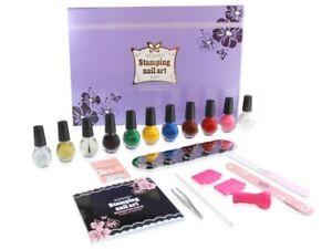 Konad Stamping Nail Art A Set Acrylic Gel original nail Ideal Gift Salon Quality