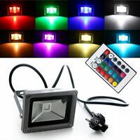 Outdoor 10W RGB Waterproof LED Flood Light Landscape Lamp Security Spotlight