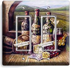 Vintage Winery Wine Cellar Bottles Double Gfci Light Switch Plate Kitchen Decor