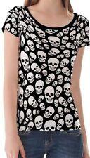 Unbranded Short Sleeve Regular Size Skull for Women