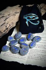 Egyptian Oracle Rune Stones  Wicca Pagan Witchcraft Divination Eye of Horus Bag