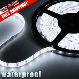 5M 3528 LED Strip Light 300 LEDs Super Bright 7000K Cool White Waterproof IP65