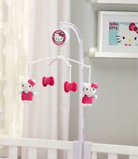 Nursery Room Newborn Baby Girls Hello Kitty Musical Mobile Lullaby Crib Toy New