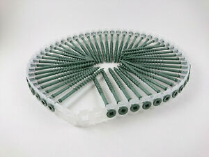 """2000 Collated Autofeed ACQ Deck Screws #8 X 3""""  Green Color"""
