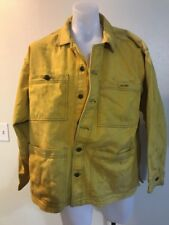 Vintage Spike Lee 40 Acres And A Mule Denim Jacket Size XL Yellow Brooklyn NY