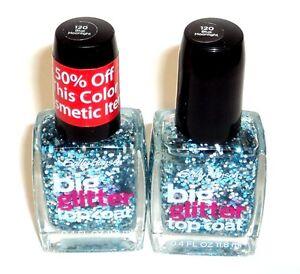 2 Sally Hansen Big Glitter Top Coat BLUE MOONLIGHT 120